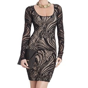 Bcbg maxazria Vivia Long-Sleeve Lace Dress size s